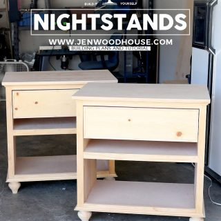 How to build a DIY nightstand - building plans by Jen Woodhouse