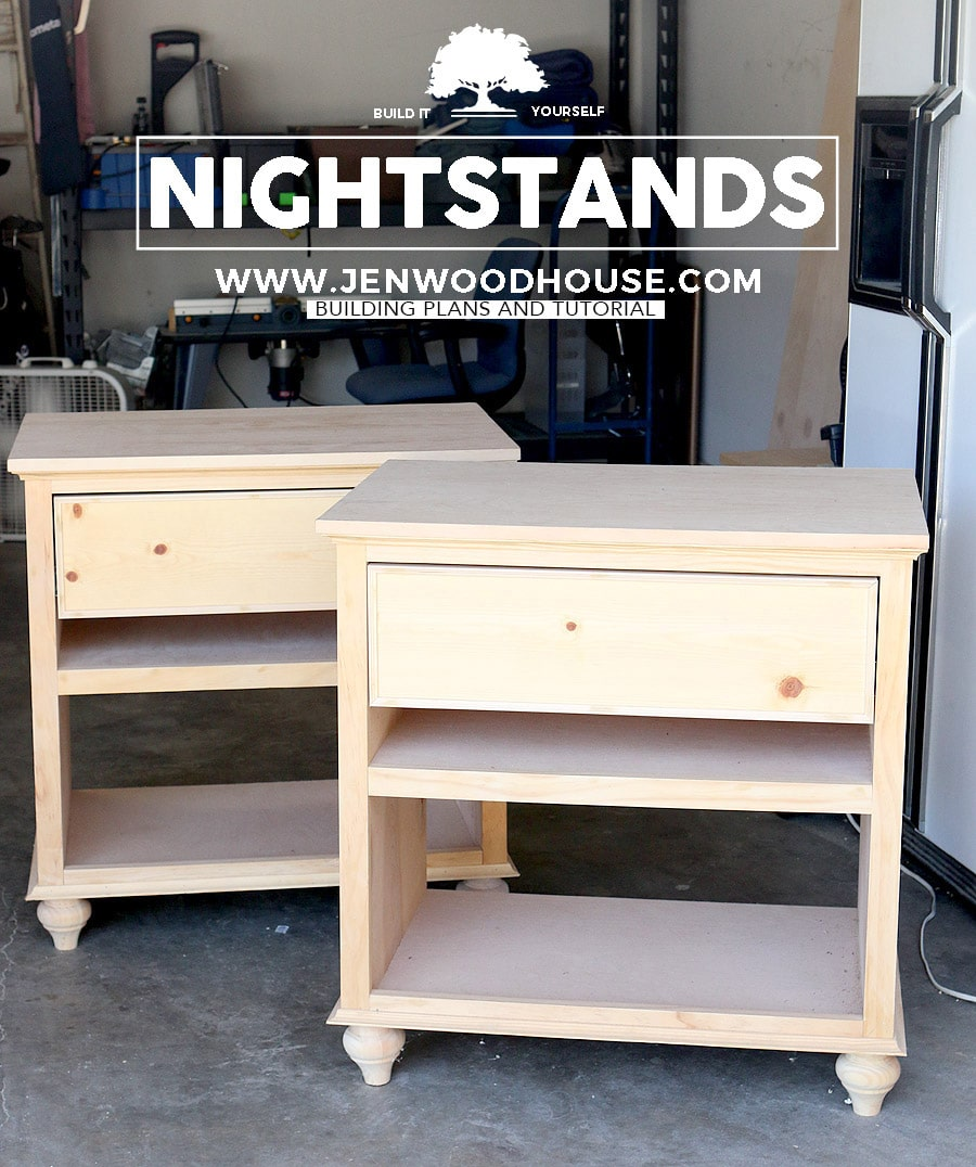 Building Plywood Drawers ~ How to build diy nightstand bedside tables