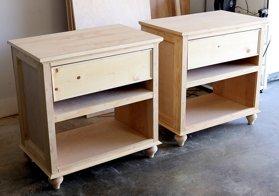 How to build diy nightstand bedside tables for Simple nightstand designs