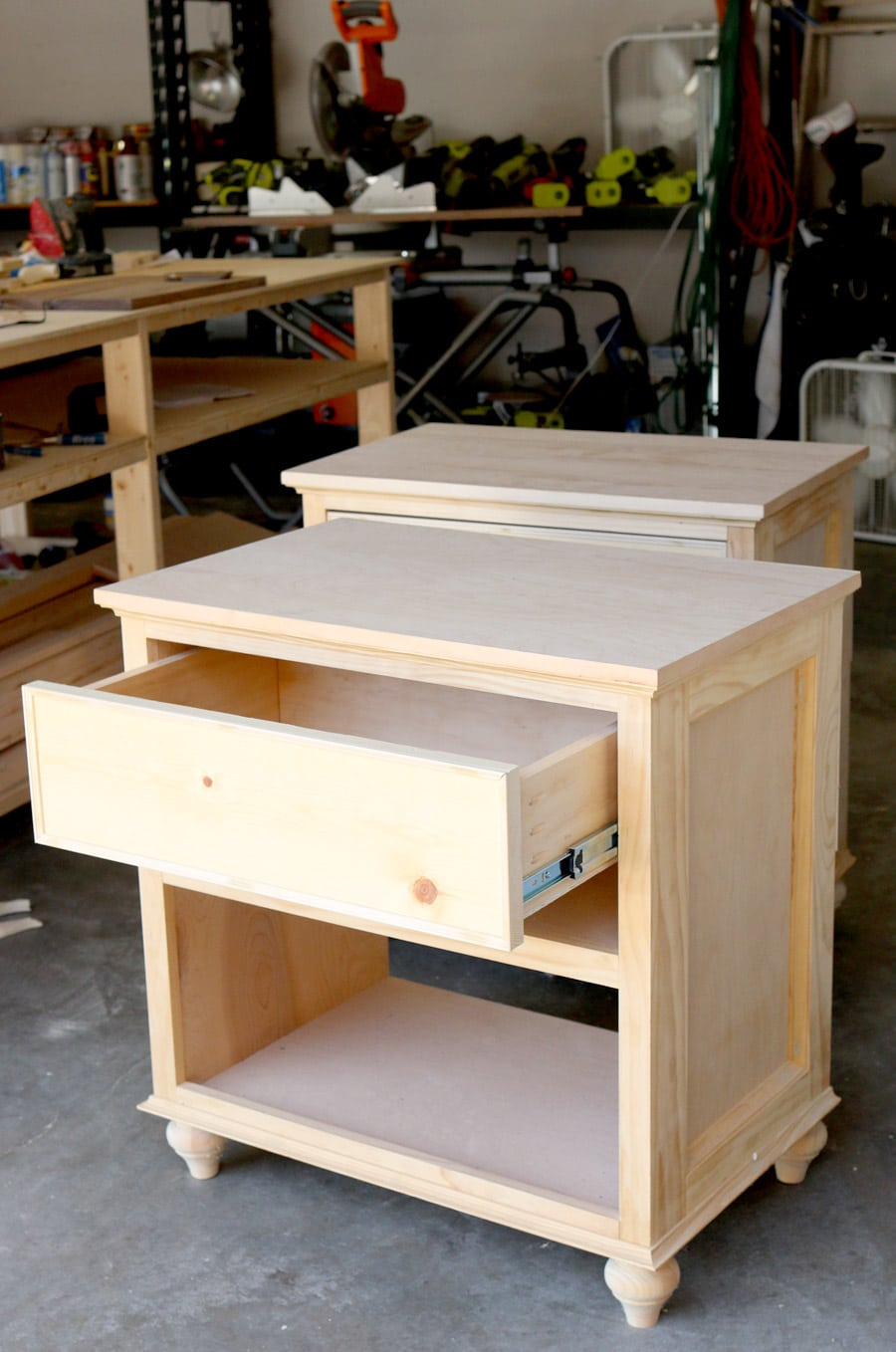 How to build diy nightstand bedside tables Night table ideas