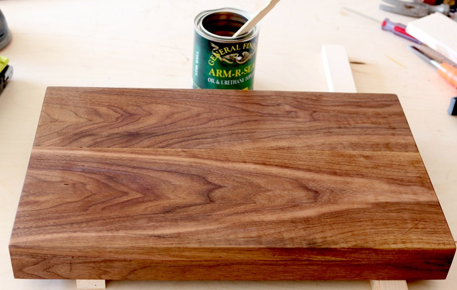 How to build a DIY folding breakfast tray or lap desk out of a single board!