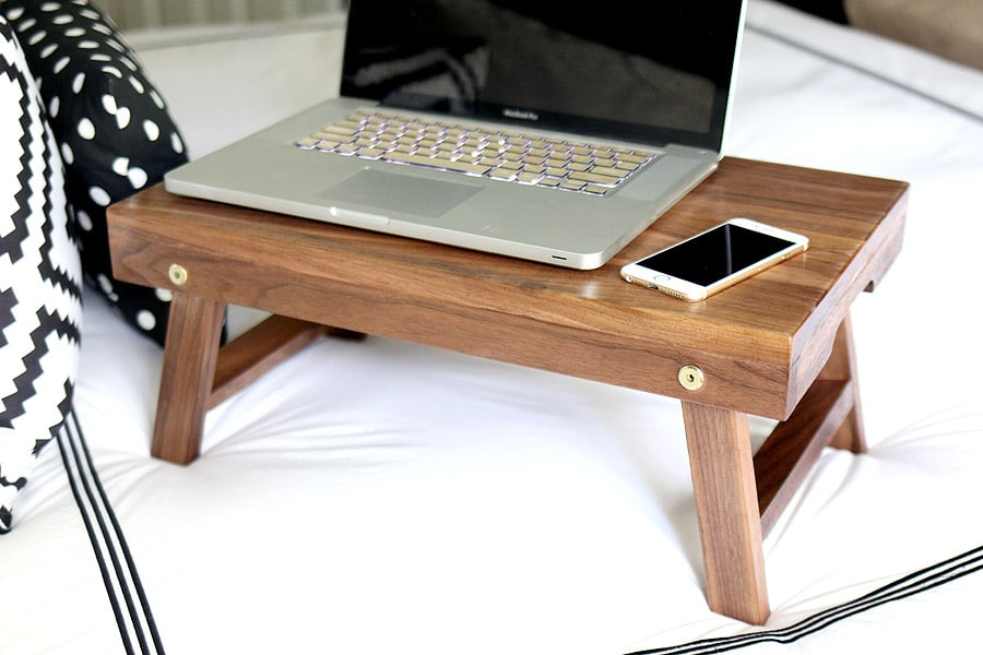 How To Build A Diy Lap Desk Breakfast Tray Folding Lap Desk