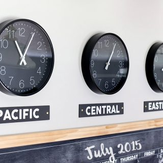 DIY Time Zone Clocks
