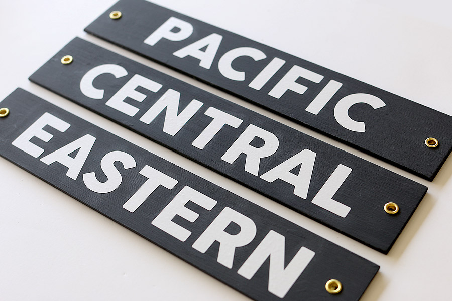 How to make DIY time zone signs