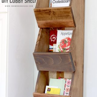 West Elm-Inspired Cubby Shelf