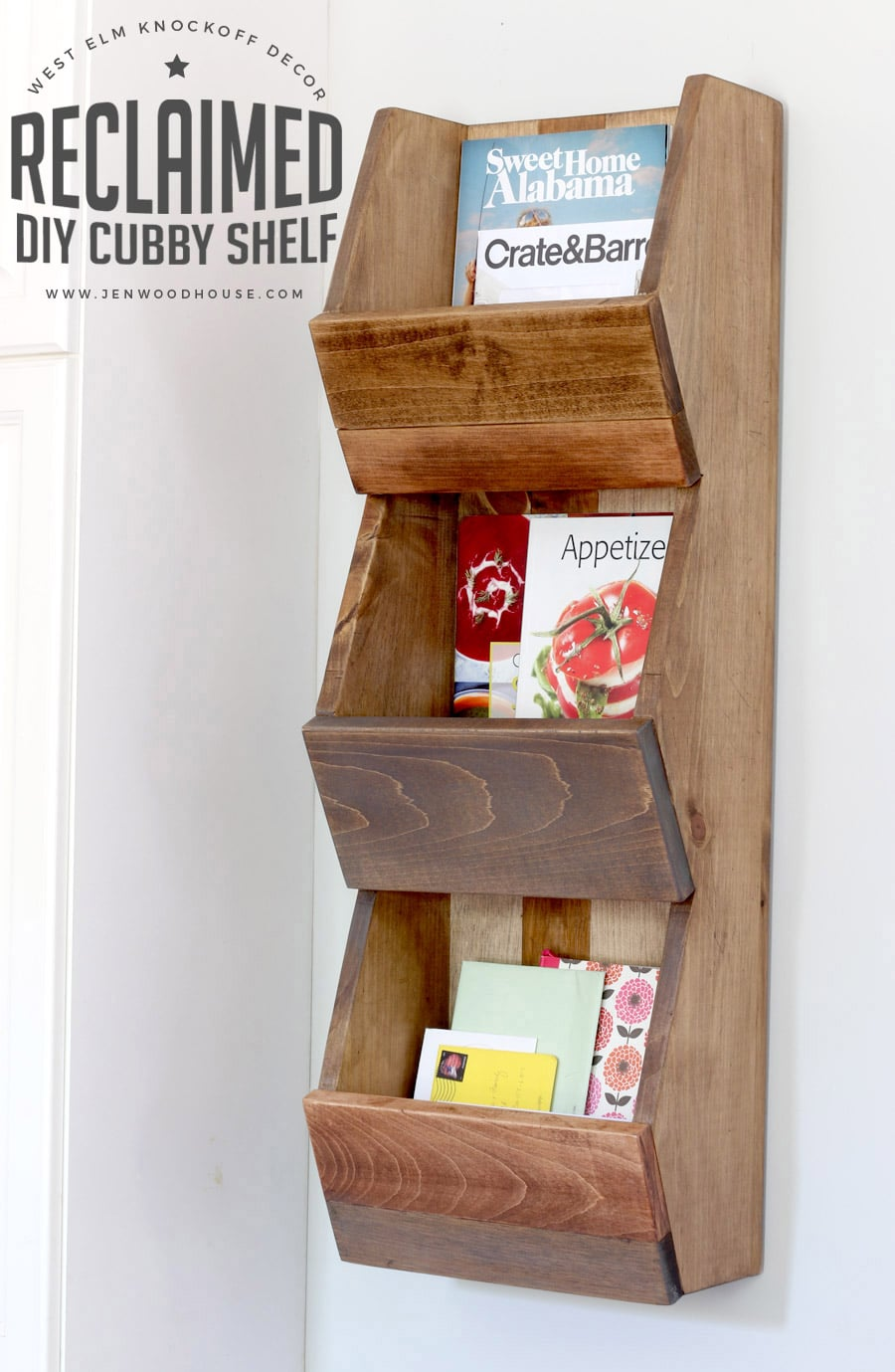 West Elm Knockoff Decor Series: Reclaimed Cubby Shelf