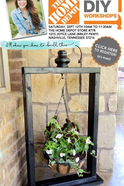 Build a hanging planter at the Home Depot DIY Workshop