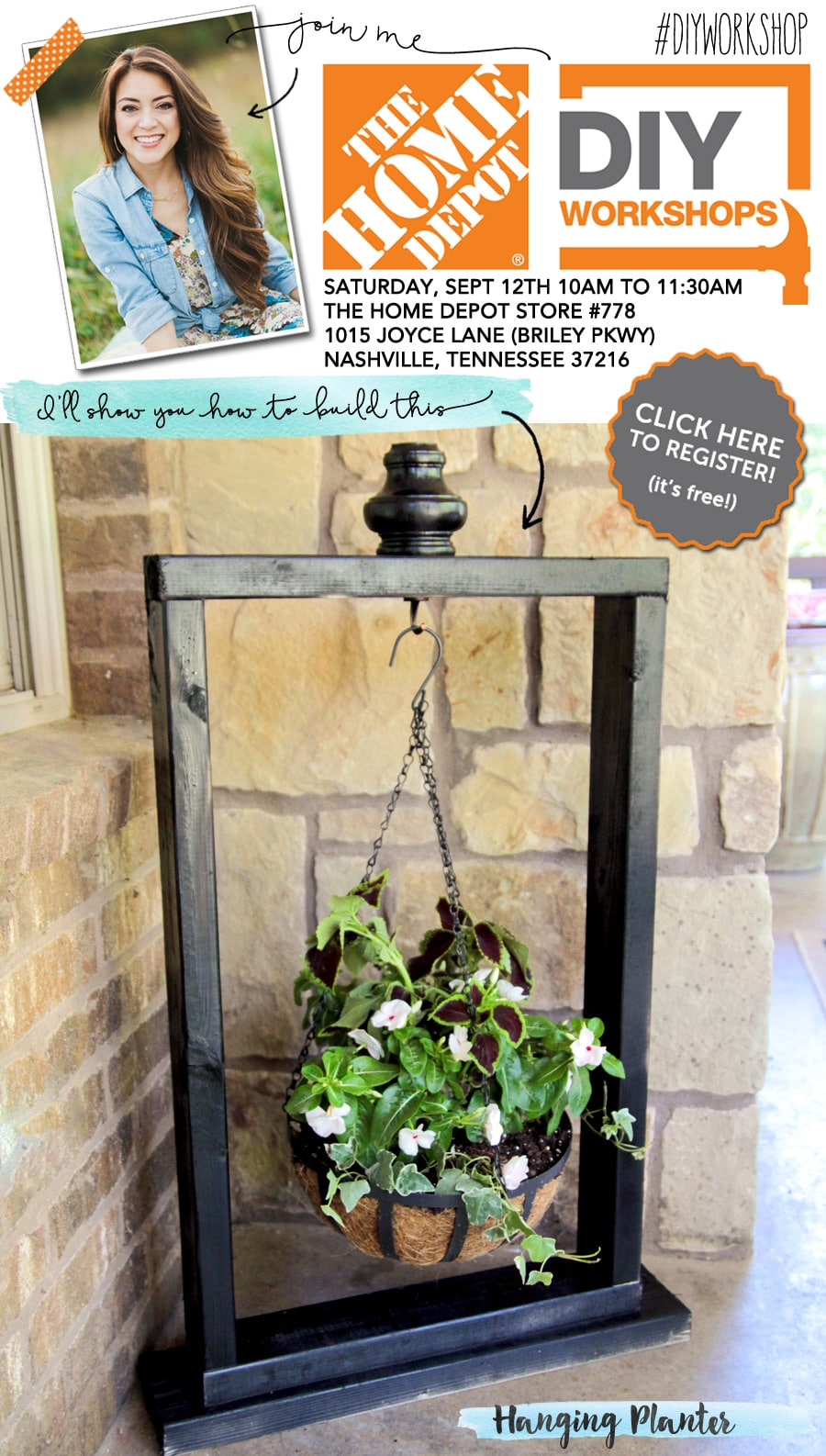 Build a hanging planter at the Home Depot DIY Workshop