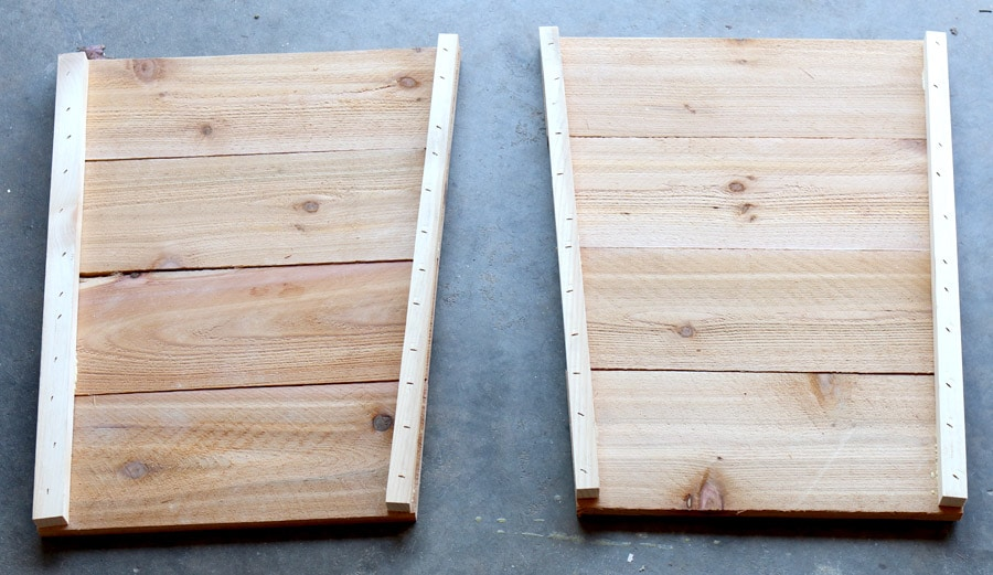 How to build DIY tapered cedar planters