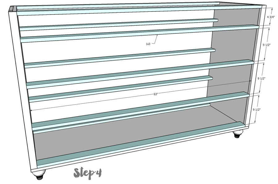 DIY Dresser Step 4