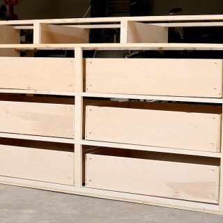 How To Build A 9-Drawer Dresser {Part Two: The Large Drawers}
