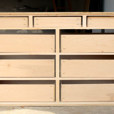How To Build A 9-Drawer Dresser {Part Three: The Small Drawers}