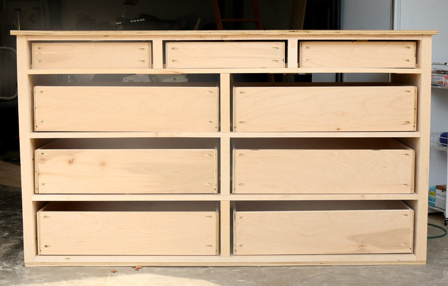 Building Wood Drawers ~ How to build a dresser