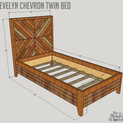 Evelyn Chevron Twin Bed