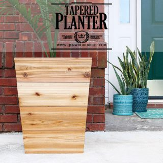 How to build a tapered cedar planter
