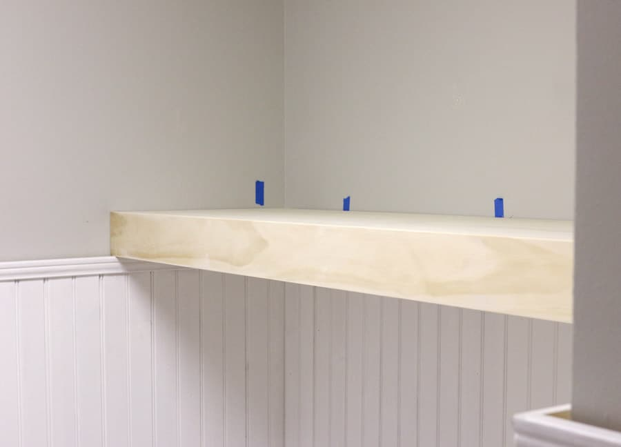 How to build DIY floating shelves via Jen Woodhouse