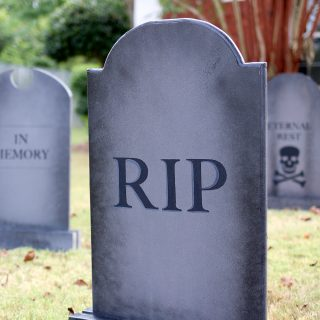 How to build DIY free-standing tombstones for Halloween.
