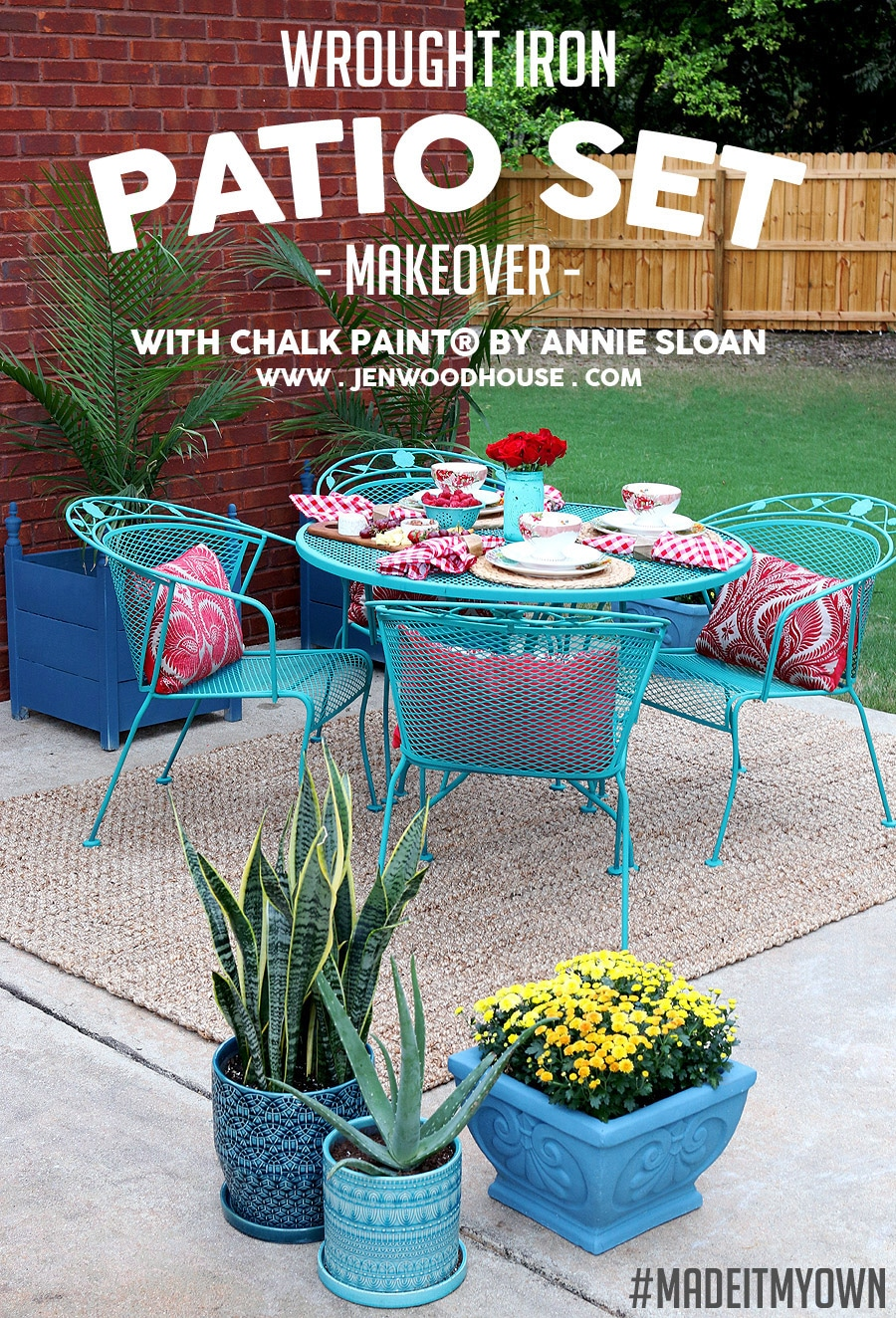 how to paint wrought iron patio furniture with chalk paint by annie