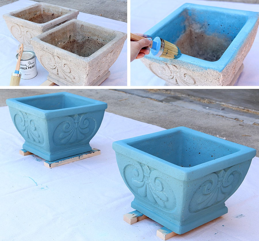 How To Paint Cement Planters With Chalk Paint® By Annie Sloan