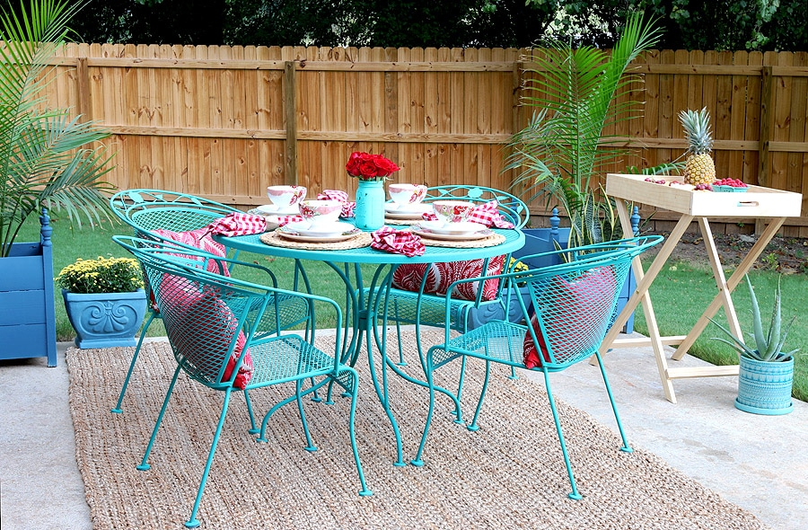 How to paint patio furniture with chalk paint Spray painting metal patio furniture