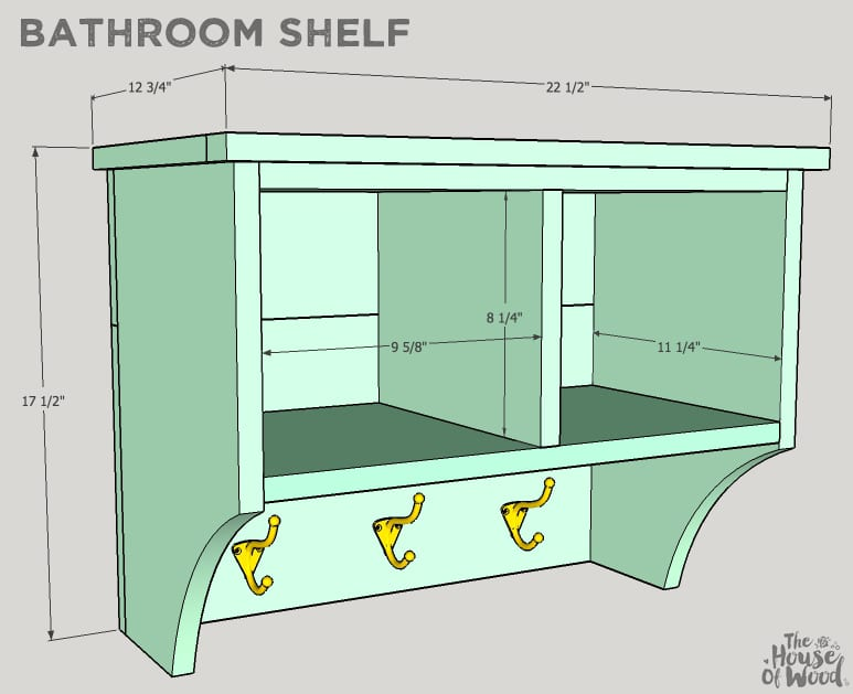 How to build a DIY bathroom shelf via Jen Woodhouse
