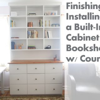 How To Build A Built-In Bookcase: Part Five