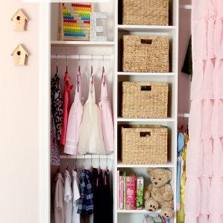 Little Girl's DIY Custom Closet Makeover