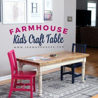 Build Something: Kids' Farmhouse Craft Table