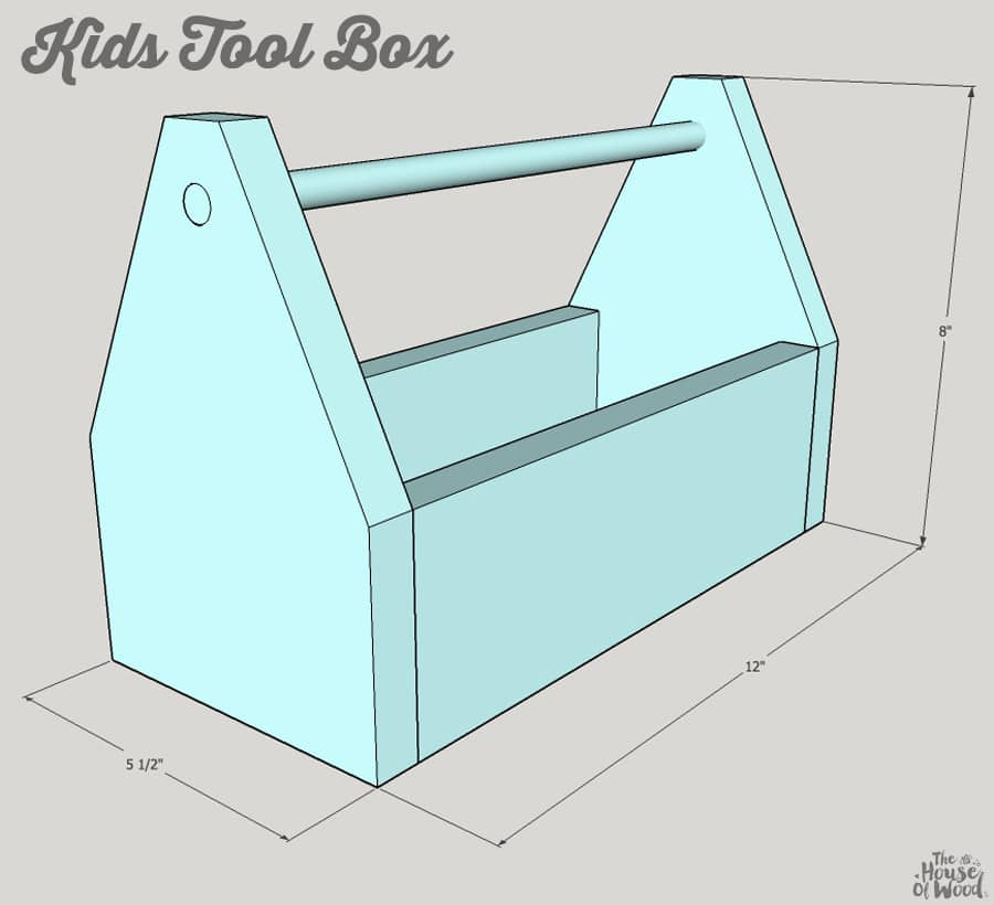 How to build a DIY Kids Tool Box via Jen Woodhouse