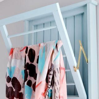 Ballard Designs-Inspired Beadboard Laundry Drying Rack