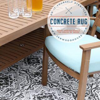How To Stencil A Concrete Rug