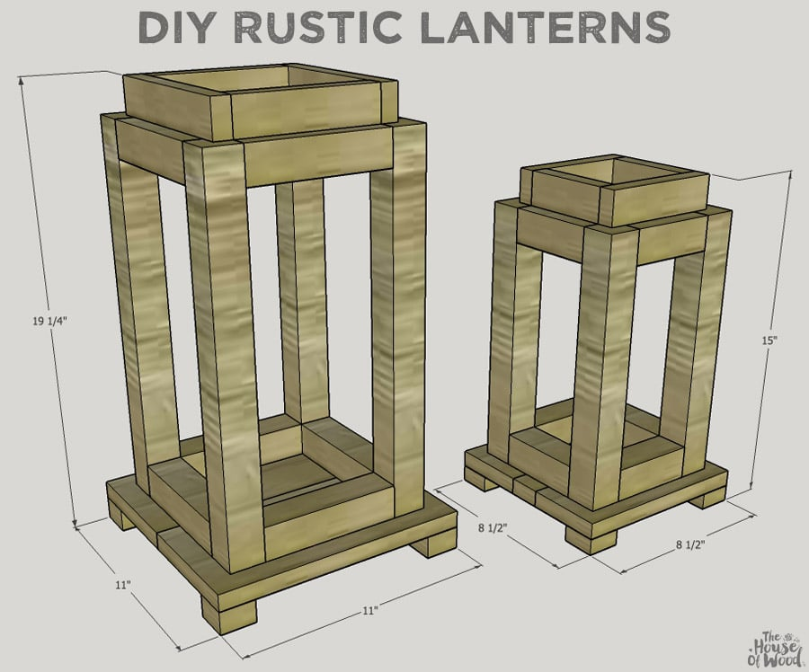 How to build DIY rustic lanterns out of scrap wood. Free building ...