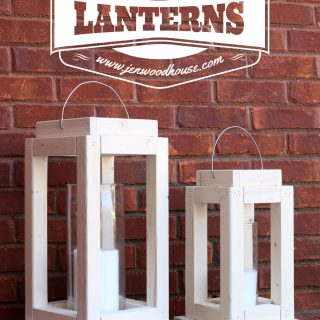 Rustic Scrap Wood Lanterns
