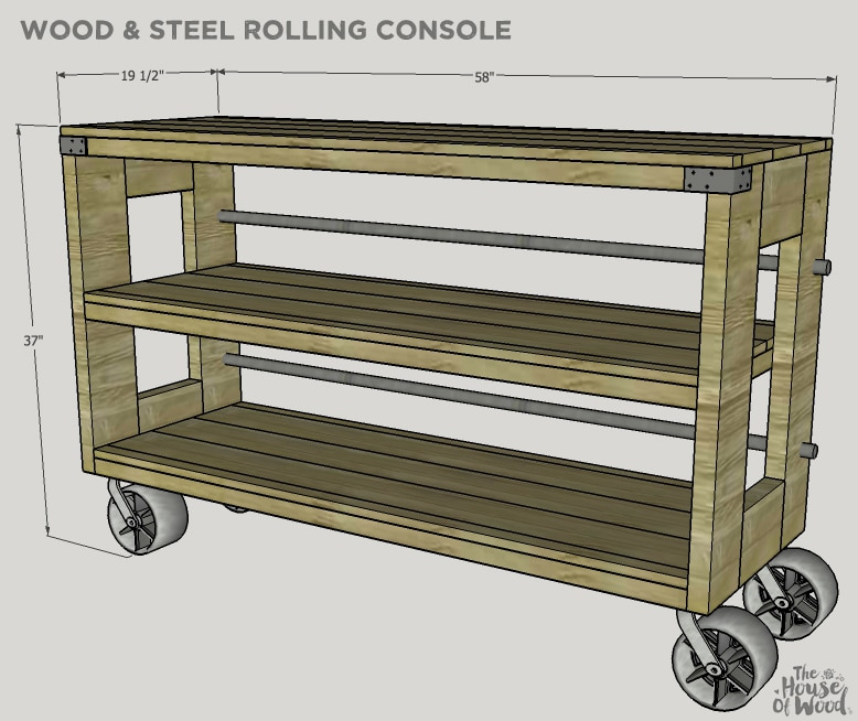 How to build a DIY Restoration Hardware-inspired wood and steel console with Simpson Strong-Tie