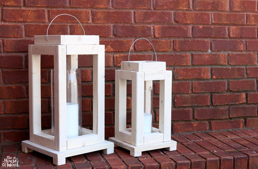 Build a pair of rustic lanterns out of scrap wood - via Jen Woodhouse #scrapwoodchallenge