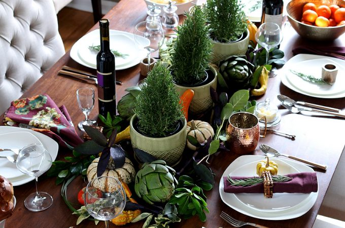 How to set the table for Thanksgiving dinner via Jen Woodhouse