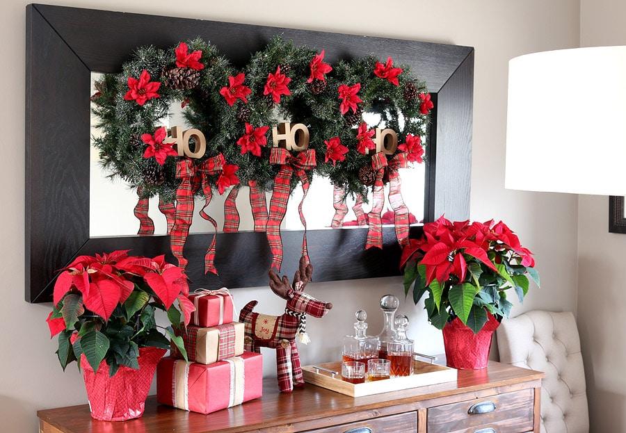 DIY Holiday Christmas Wreath trio