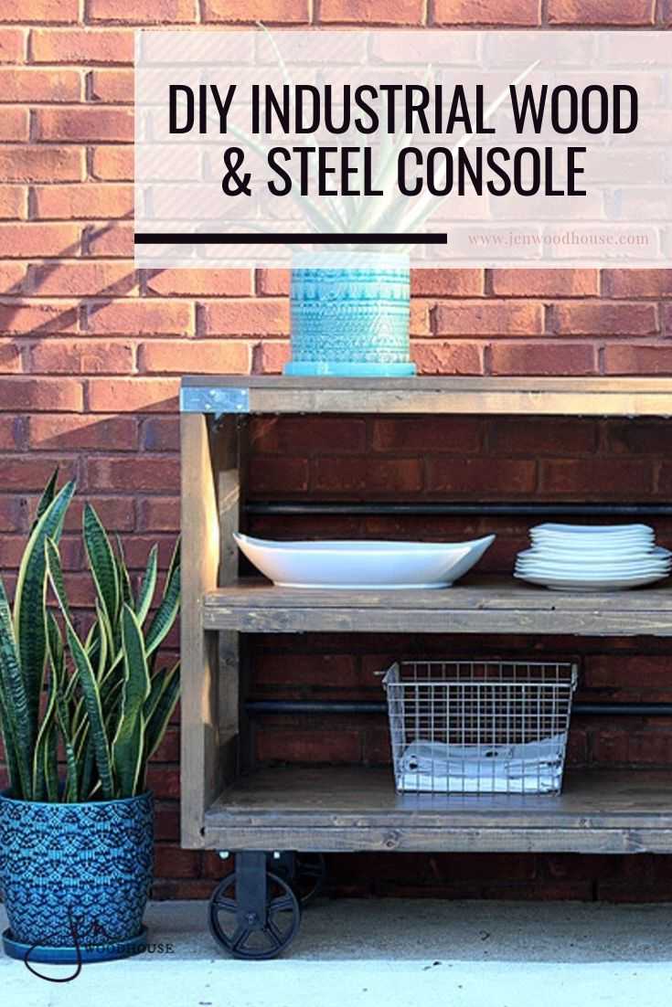 Build this Restoration Hardware console table for a fraction of the price with these DIY plans from Jen Woodhouse! | #DIY #DIYconsole