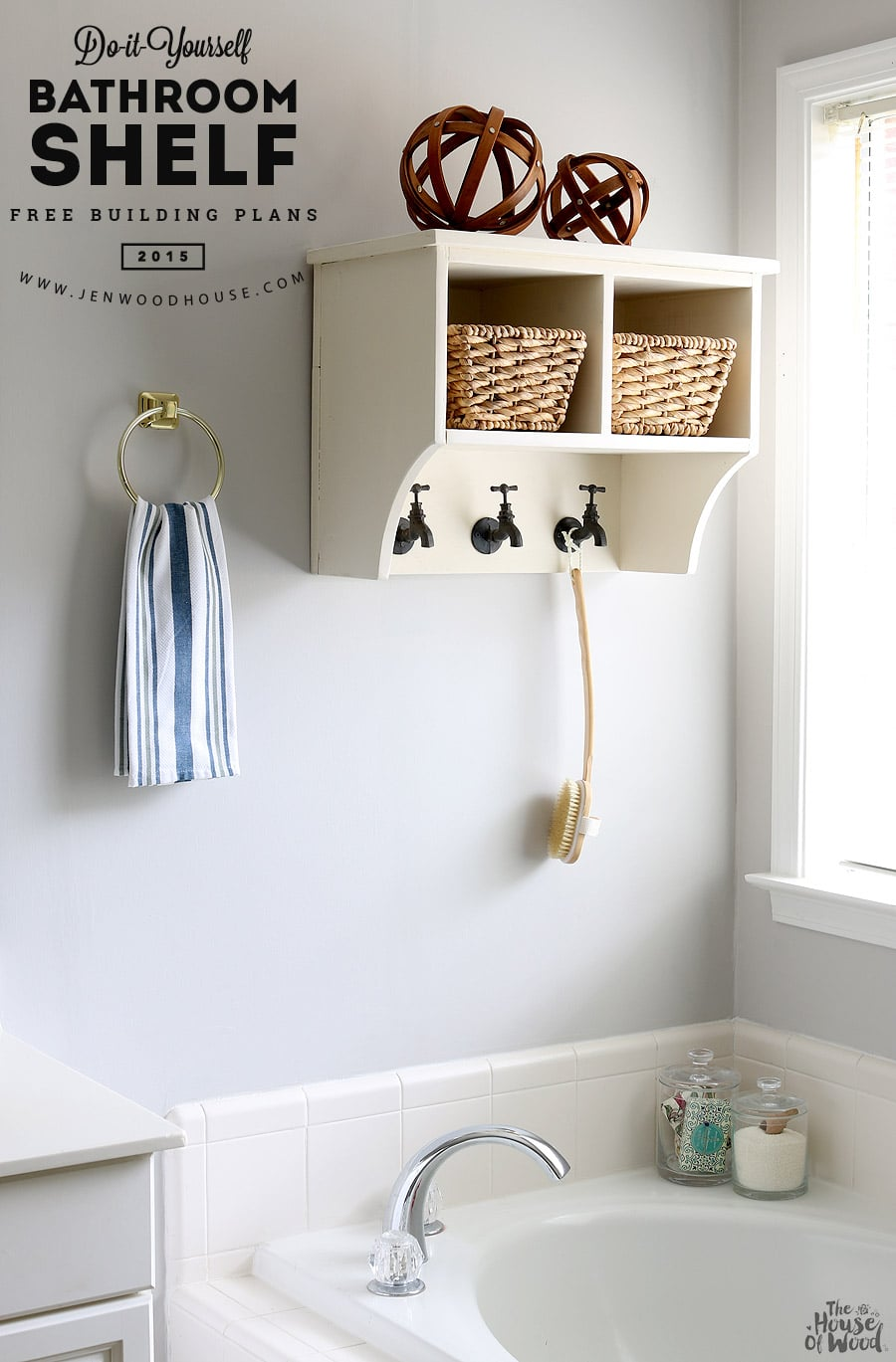 industrial bathroom small an feel ideas farmhouse shelves shelf shelving with