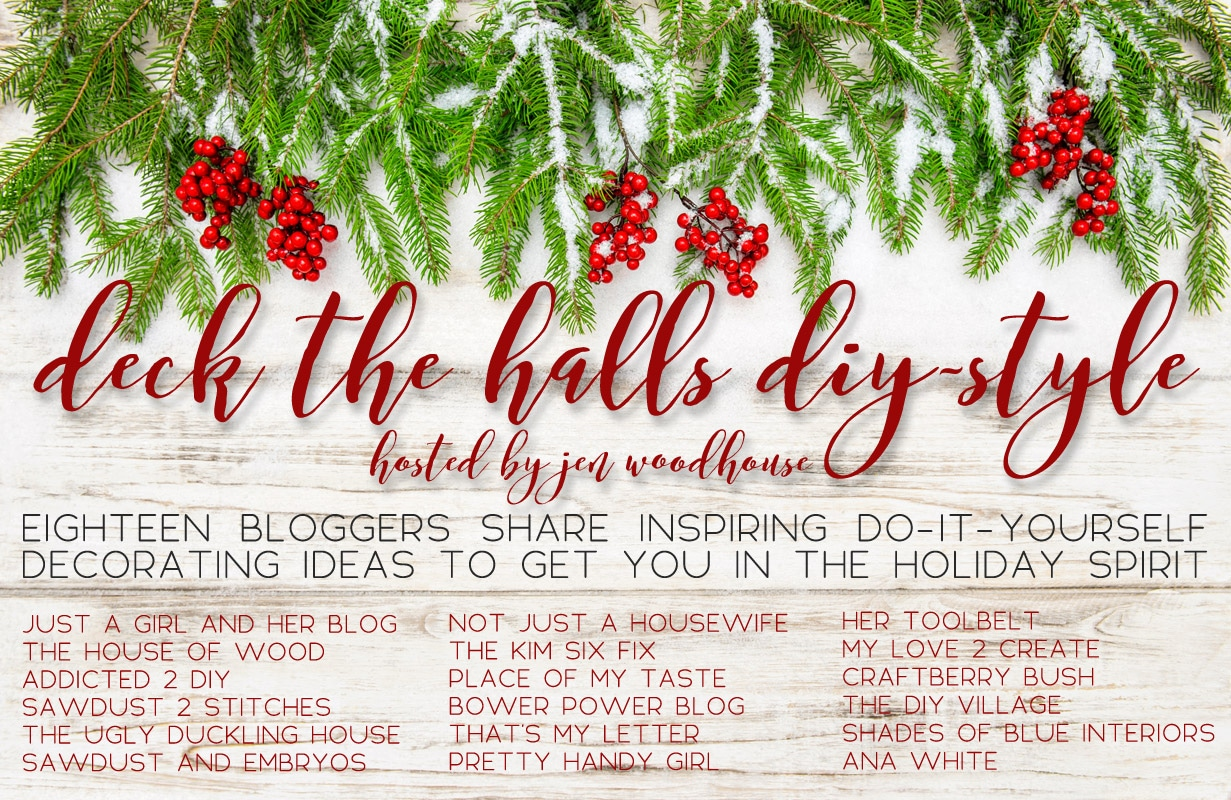 Join 18 bloggers as they share inspiring DIY decorating ideas for Christmas