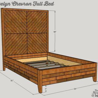 Building Plans: Evelyn Chevron Full Bed