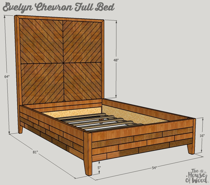 DIY West Elm Chevron Bed - Free Plans