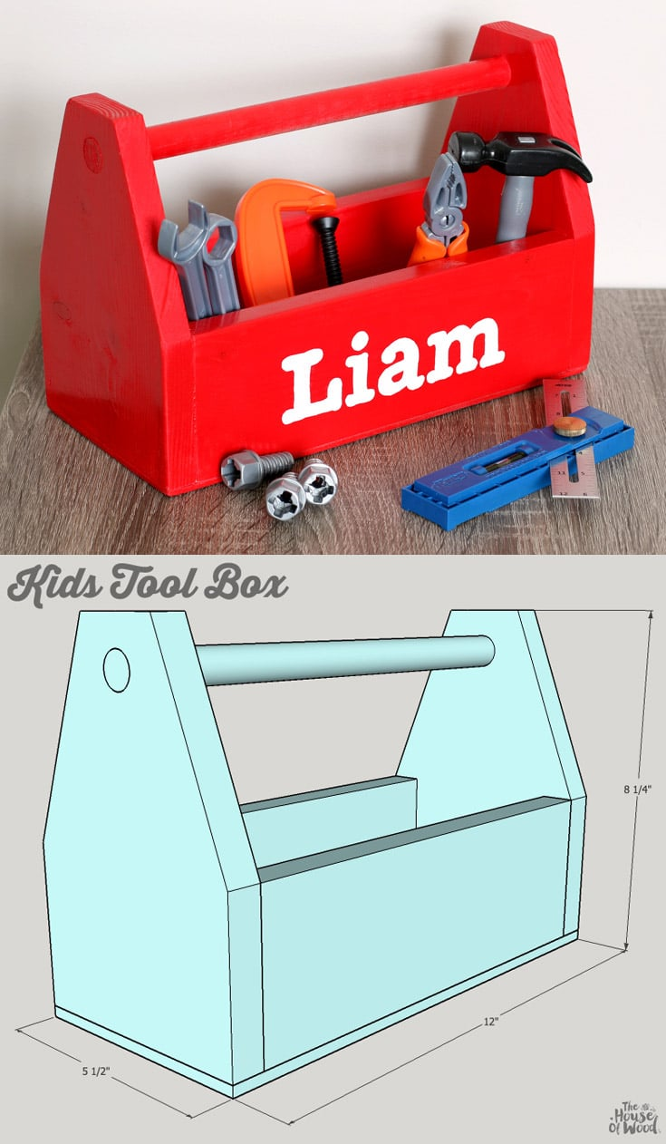 Diy kids tool box for Tools to build a house