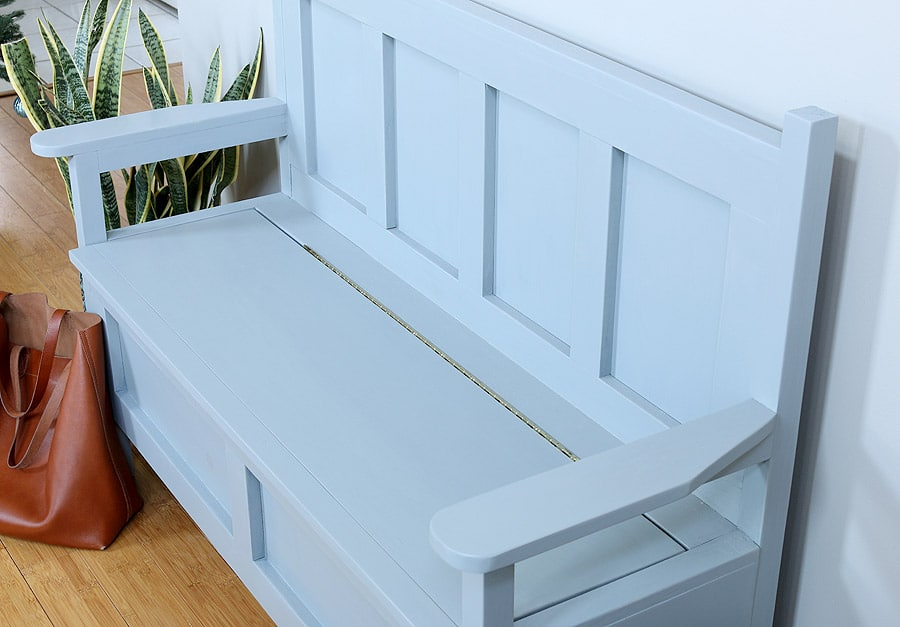 Wonderful Storage Bench Ideas Part - 12: Free Building Plans By Jen Woodhouse How To Build A DIY Storage Bench. Free  Building Plans By Jen Woodhouse
