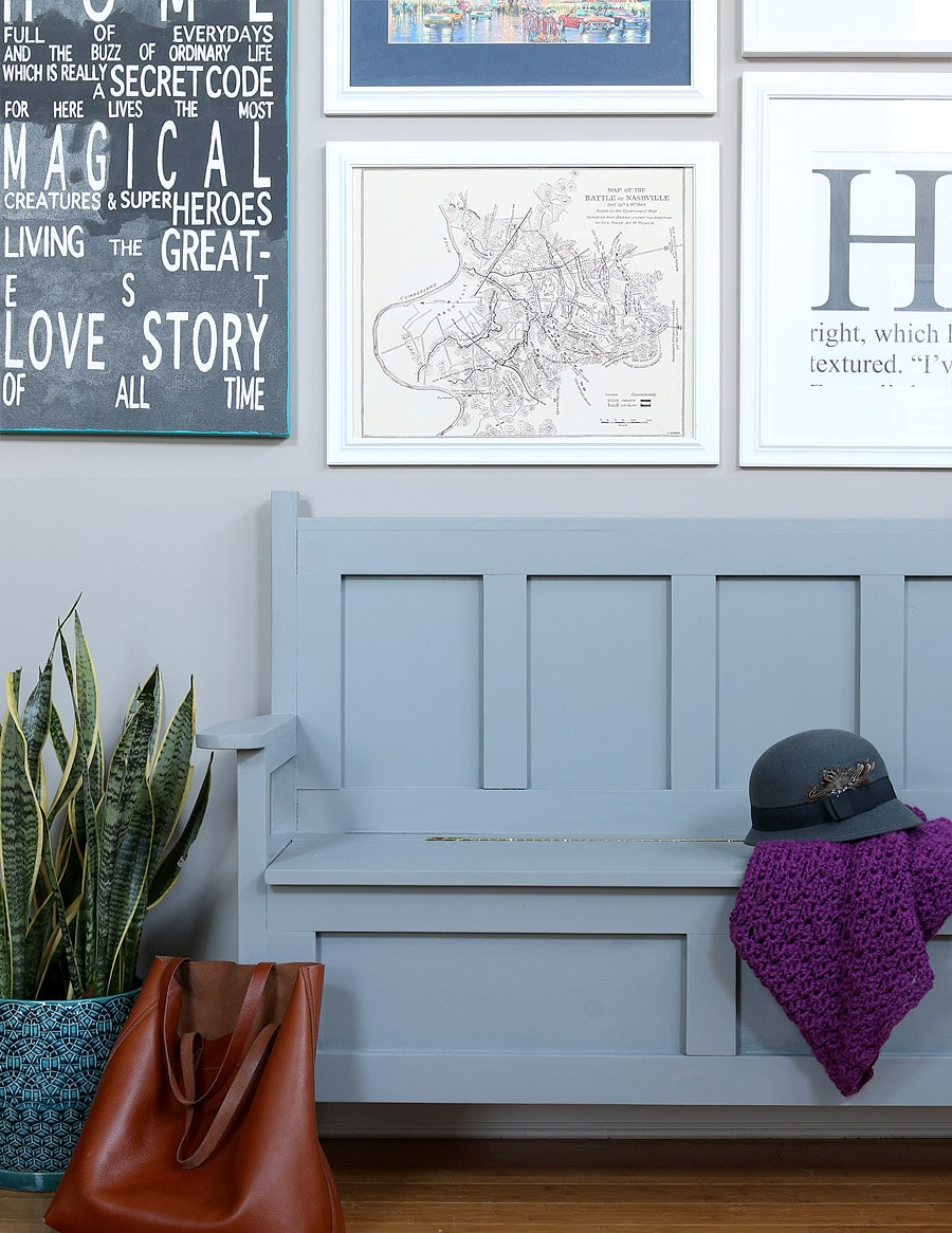 How to build a storage bench via Jen Woodhouse