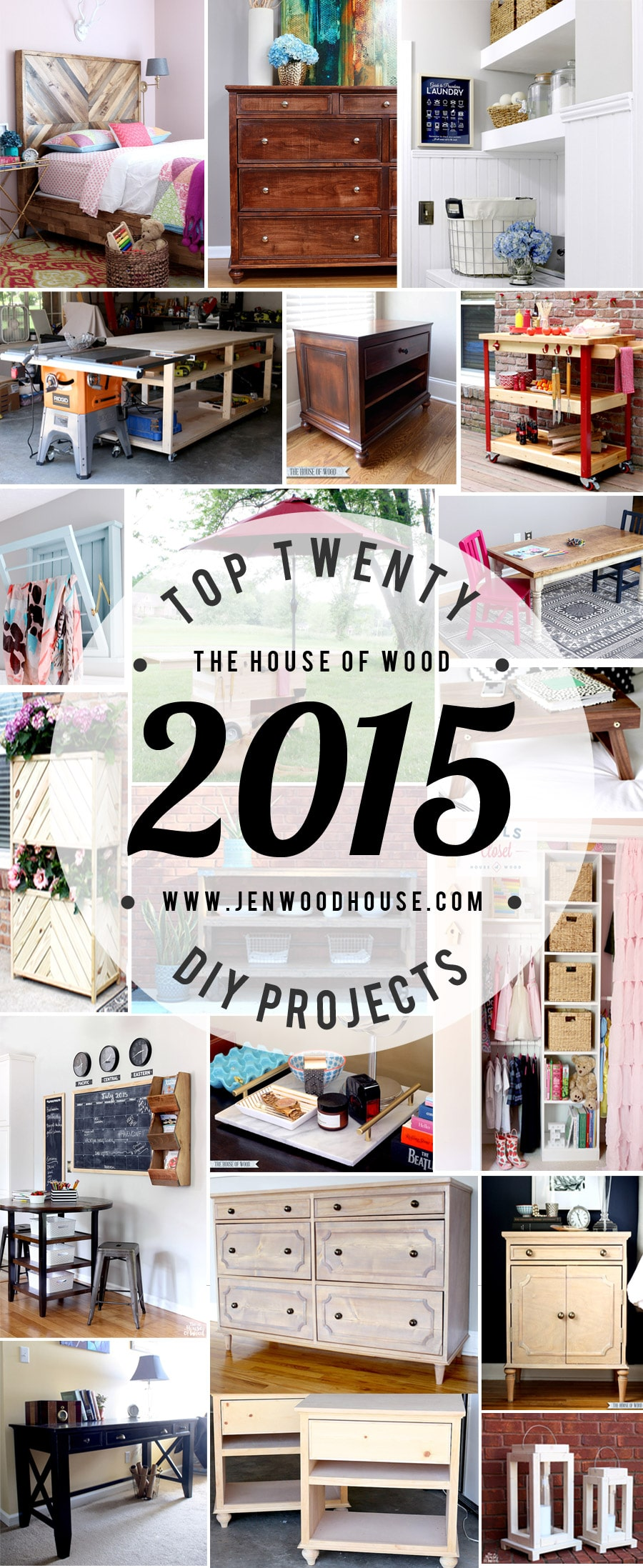 Top 20 DIY Projects of 2015 via Jen Woodhouse