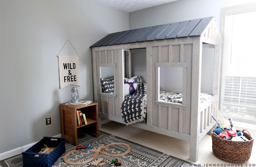 How to build a DIY Restoration Hardware Cabin Bed via Jen Woodhouse