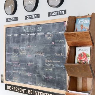 This DIY wood sign is a great reminder to be present and to live an intentional life. Via Jen Woodhouse