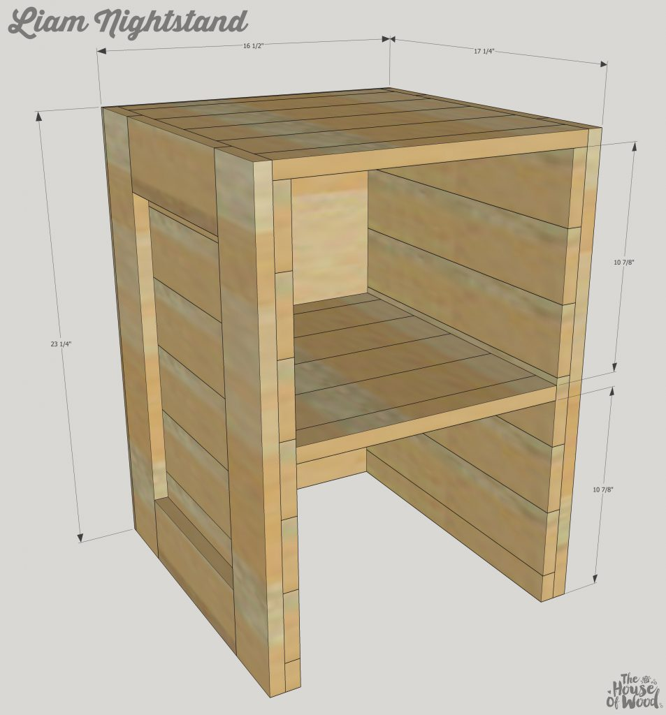 How to build a DIY rustic cargo nightstand