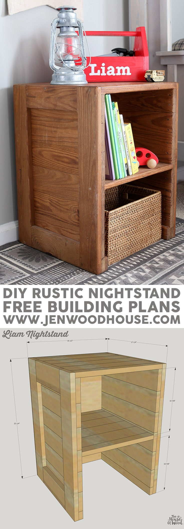 free plans: diy rustic nightstand Diy Rustic Nightstand